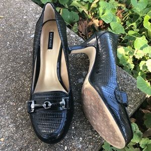 Alex Marie Patent Croc Style Leather Pumps 7.5
